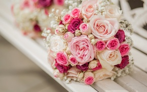 Picture flowers, roses, bouquet, pink, flowers, bouquet, roses