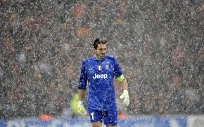 Picture Snow, Sport, master, Football, Goalkeeper, Goalkeeper, Juventus, Juventus, Gianluigi Buffon, Gianluigi Buffon, Serie A, Series …