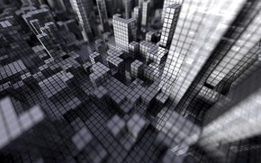 Wallpaper grey, mesh, cubes