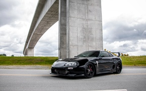 Picture Toyota, Bridge, Black, Supra