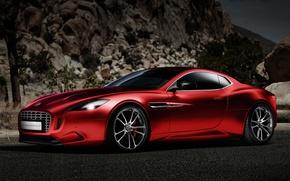 Picture Concept, Red, Thunderbolt, Vanquish, Aston Martin-Fisker