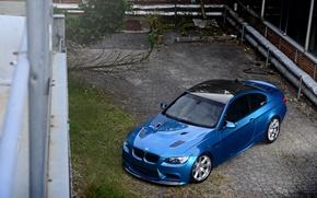 Picture roof, reflection, blue, BMW, BMW, black, e92, carbon fiber, Atlantis Blue