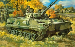 Wallpaper figure, infantry fighting vehicle, The BMP-3