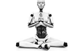 Picture white, black, android, yoga