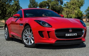 Wallpaper Jaguar, Jaguar, Coupe, F-Type, AU-spec, 2014