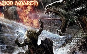Picture The ocean, Hammer, Snakes, Amon Amarth, Viking, Twilight of the Thunder God