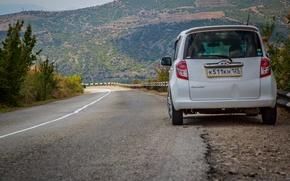 Picture Road, Summer, Toyota, Car, Crimea, Ractis