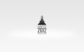 Picture holiday, minimalism, New year, tree, 2012