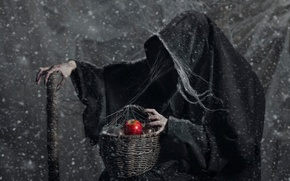 Picture basket, Apple, witch, fairy tale