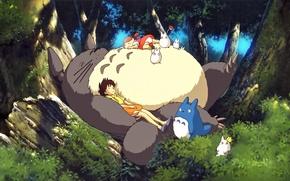 Picture greens, Totoro, Satsuki, Mei, Hayao Miyazaki, My Neighbor Totoro