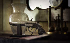 Picture gun, weapons, background