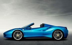 Picture Ferrari, Profile, Ferrari, Spider, 488
