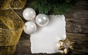 Picture balls, paper, Board, star, tree, candle, branch, New Year, Christmas, tape, white, Christmas, New Year