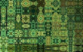 Picture abstraction, patterns, texture, green