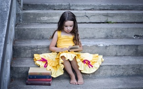 Picture mood, books, girl