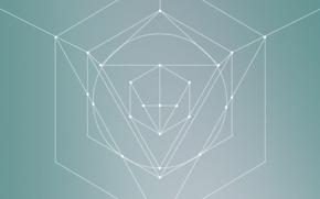Picture minimalism, figure, triangle