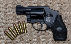 Picture background, cartridges, revolver, Smith & Wesson, Smith Wesson