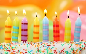 Wallpaper flame, striped, birthday, holiday, congratulations, candles, happy, flame, candle, birthday, fire, fire