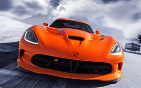 Picture orange, Dodge, Dodge, supercar, Viper, the front, Viper, SRT
