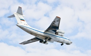 Picture The sky, Flight, Wings, Aviation, The Il-76, Ilyushin, military transport aircraft, Turbine, Candid, 78811