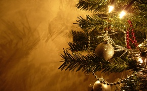 Wallpaper toys, tree, new year, ball