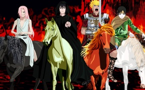 Picture sword, game, Naruto, armor, anime, general, horses, sharingan, asian, knights, bow, justice, manga, Uchiha Sasuke, …