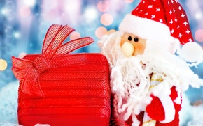 Picture gift, New year, Santa Claus