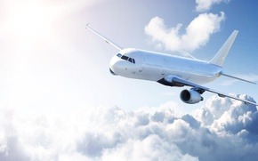 Picture photo, The sky, Clouds, The plane, Aviation, Passenger