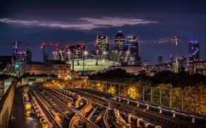 Picture night, railway, London, England, arena