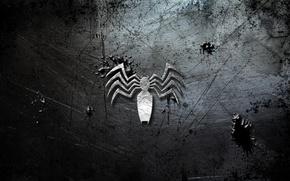 Picture metal, logo, white, venom