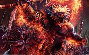 Picture War, CG Wallpapers, Swords, Steve Argyle, Dragonborn Barbarians