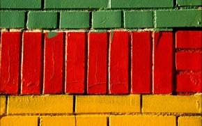 Picture wall, paint, brick, masonry