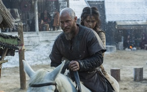 Wallpaper snow, horse, Vikings, The Vikings, Travis Fimmel, Ragnar Lothbrok