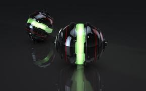 Wallpaper Balls, Sphere, Luminous Sphere, Balls