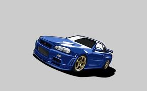 Picture vector, nissan, skyline, Nissan, gt-r, gtr, r34, gtr, skyline, V-spec