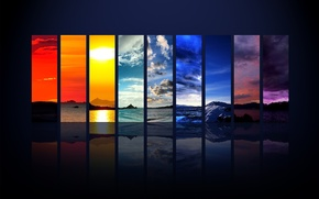 Picture strips, nature, color