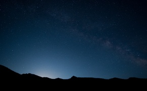 Picture landscape, mountains, night