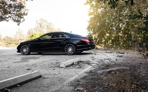 Picture side, black, Mercedes Benz, Mercedes, CLS550