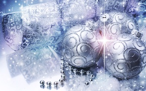 Wallpaper balls, decoration, Shine, holiday, sequins