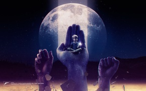 Picture the moon, child, hands, label, Axtone, All That Matters, Kölsch