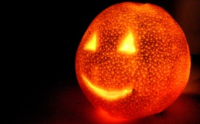 Wallpaper Halloween, orange, Halloween, light