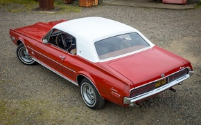 Picture Cougar, the view from the top, 1968, Mercury, XR-7