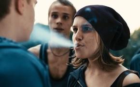 Picture movie, the film, hat, smoke, homeless, Daria Melnikova, Steel butterfly