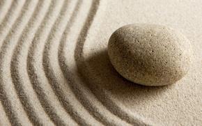 Wallpaper stone, macro, stones, sand