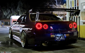 Picture night, tuning, GT-R, Nissan, Nissan Skyline, R34, skyline