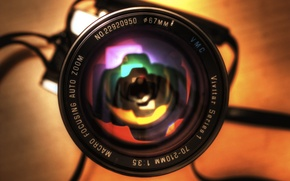 Wallpaper HDR, Reflection, the camera, lens, rainbow, photography, camera, canon, canon eos 450d, Minolta Srt 101b, ...
