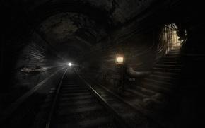 Picture darkness, metro, monsters, Metro Last Light