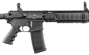 Picture gun, military, assault rifle, Ruger sr 556