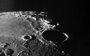 Wallpaper The moon, shadow, crater