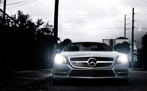 Picture Mercedes-Benz, front, SL-class, silvery, SL 550, R231